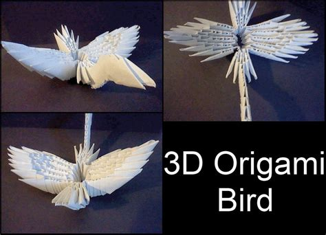 3d Origami Birds - 3d origami bird by xcrow9x on deviantart