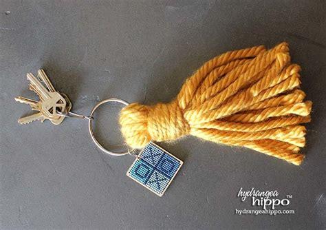 large honeycomb tassel ornament diy christmas giant tassel keychain easy yarn craft favecrafts com