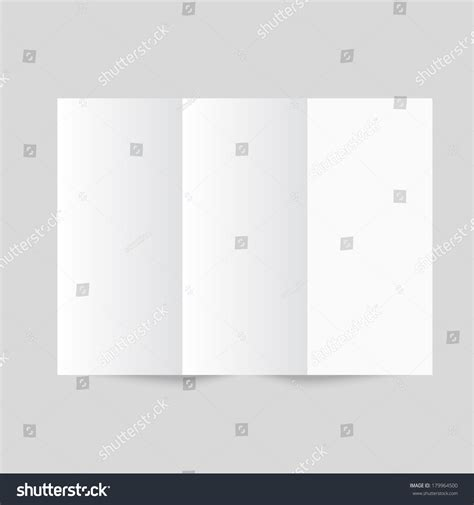How To Make A Trifold Brochure With Paper - white stationery blank trifold paper brochure on gray