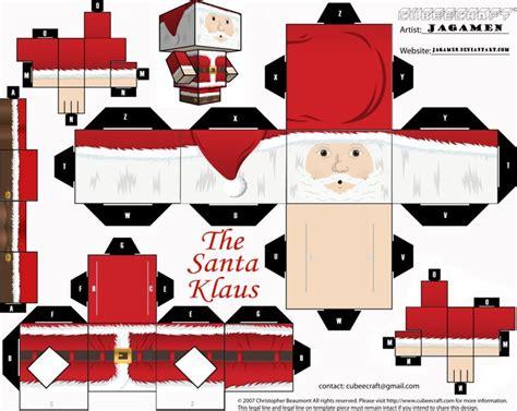 imagenes de santa claus para armar the santa klaus cubeecraft by jagamen deviantart com on