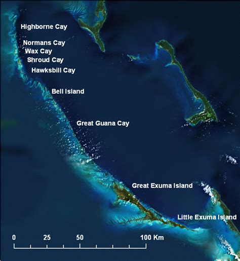 grand eastern 2009 asia digital location map for the exuma islands