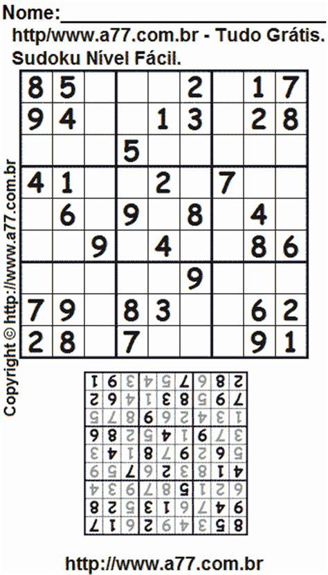 sudoku printable para imprimir gratis sudoku gr 225 tis para imprimir n 237 vel f 225 cil