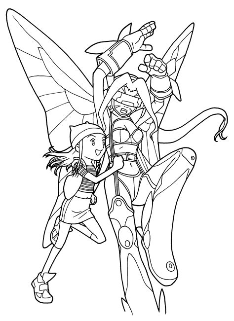 free coloring pages of digimon fusion
