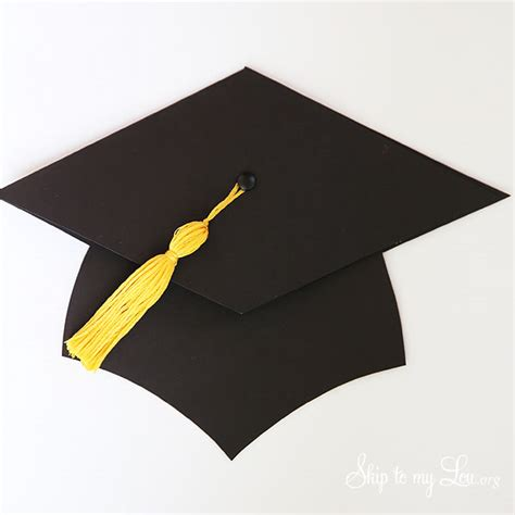 How To Make A Paper Graduation Hat - graduation cap gift card holder skip to my lou