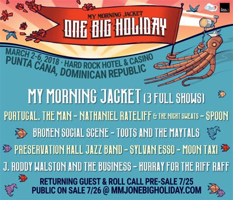 One Big Holiday hosts My Morning Jacket, Portugal. The Man and More in the Dominican Republic