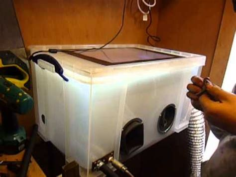 diy soda blasting cabinet really usefull box media blasting cabinet youtube
