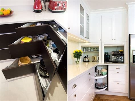 storage ideas for kitchen cabinets clever storage ideas for corner kitchen cabinets
