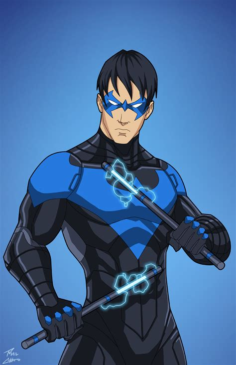 nightwing hairstyle nightwing earth 27 rebirth colors by phil cho on deviantart
