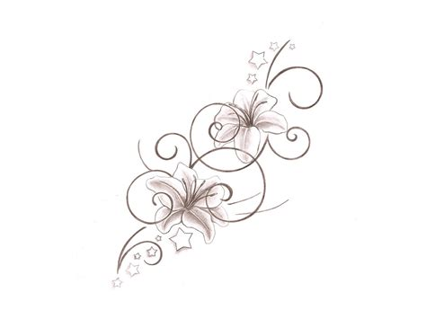 girly flower tattoo designs flower pencil drawing pencil drawing collection