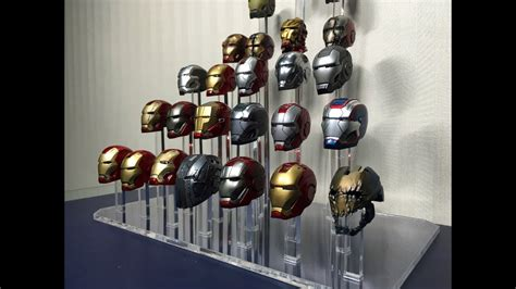 iron man helmet display created stoneys stands youtube
