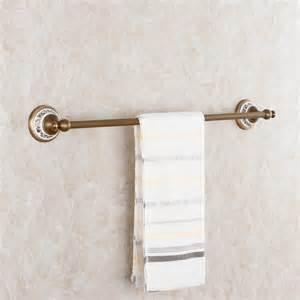 aluminum antique brush holder towel ring single towel rack