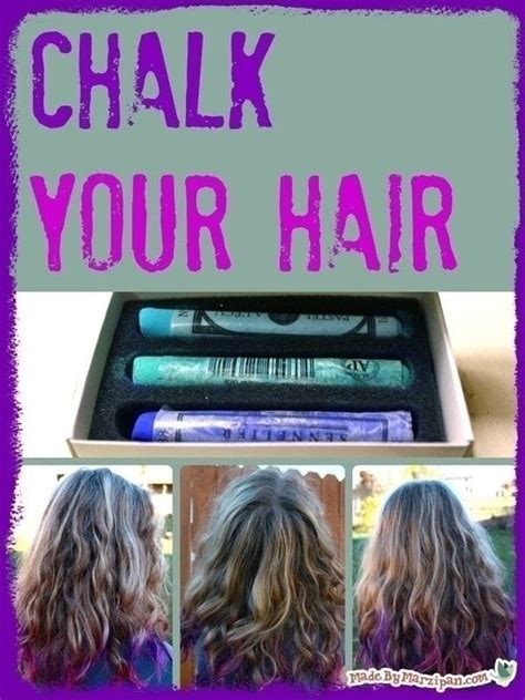 chalk paint your hair how to chalk your hair 183 how to make a coloring dying