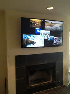 tv wall mount fireplace tv wall mount above a fireplace yelp