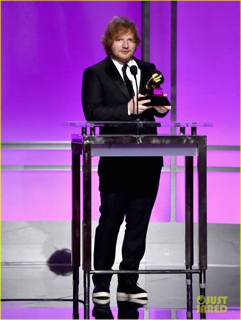song of the year ed sheeran wins his grammys for thinking out loud