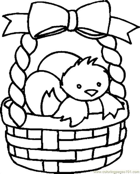 coloring pages of easter baskets easter basket coloring pages coloring home