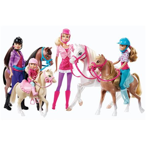 barbie sisters horse adventure play set toy review jet com barbie her sisters in a pony tale horse