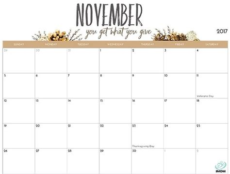 printable calendar imom 2018 cute printable calendar november 2018 journalingsage com