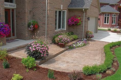 Front Patios Design Ideas Front Patios Here S A Sted Concrete Front Pat