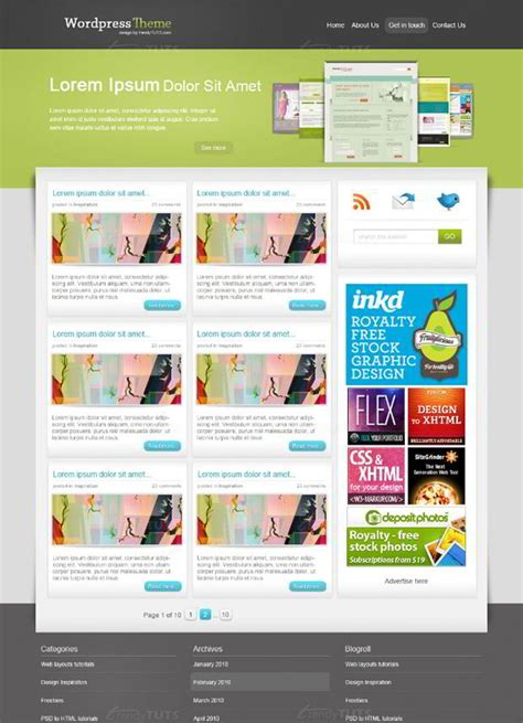 tutorial design wordpress theme 30 blog design photoshop tutorials monsterpost