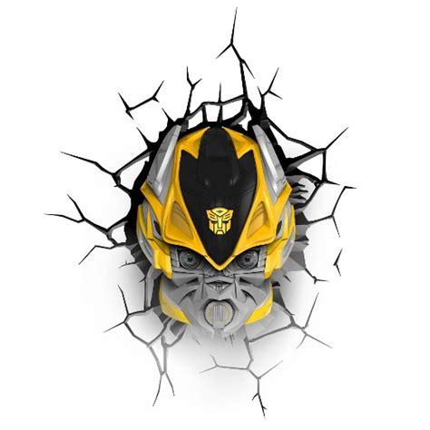 3d lights target transformers 3d wall nightlight bumblebee target