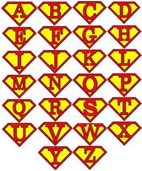 superman alphabet template 17 best images about fete initials capes and