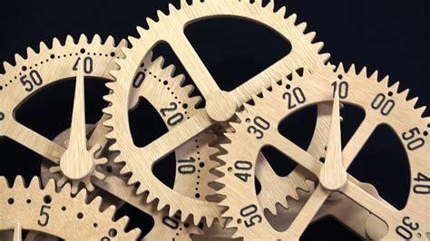 Astronomical Wall Clock wooden gear clock genesis design by clayton boyer youtube