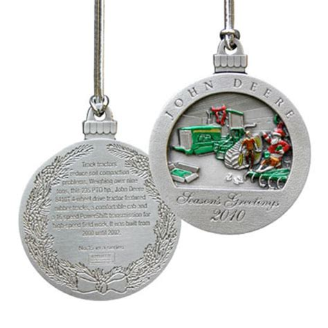john deere limited edition 2010 pewter christmas ornament