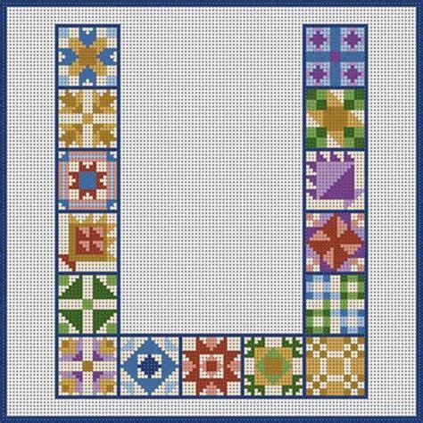 Patchwork Quilt Lyrics - quilt block 820 cross stitch alphabet quilt block