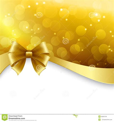 shiny holiday background  gold bow christmas stock