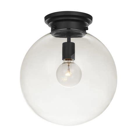 Globe Electric Portland 1 Light Black Semi Flushmount