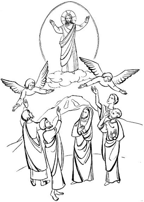 coloring pages jesus grows up 16 best images about hemelvaart kleurplaten on