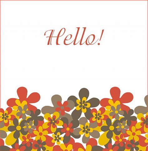 hello greeting vector free