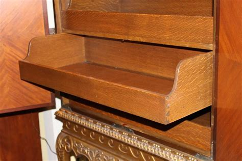 cabinet on stand linen press by shaw furniture co