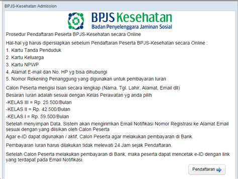 email bpjs kesehatan bpjs kesehatan begini cara daftar peserta bpjs secara