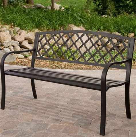 steel garden bench metal garden bench ideas for home garden bedroom kitchen homeideasmag com