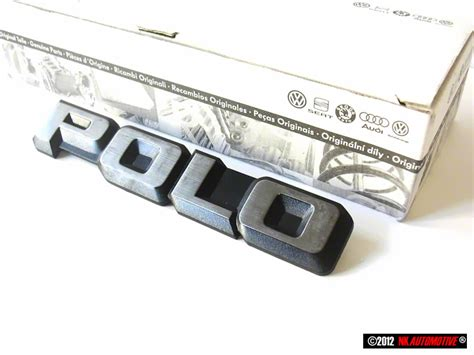 Emblem Gx original vw polo rear trunk boot badge emblem chrome nos