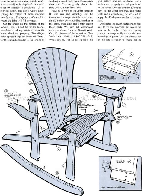 rocking chair design plans free adirondack rocking chair plans woodarchivist