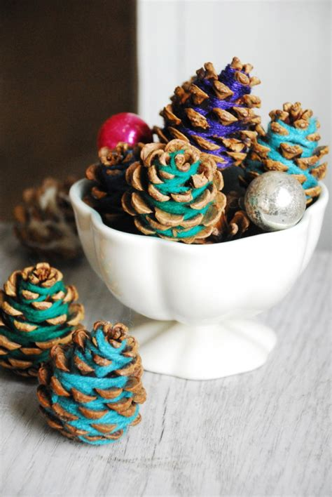 crafts with pinecones diy yarn pine cones a craft so easy you don t even need glue
