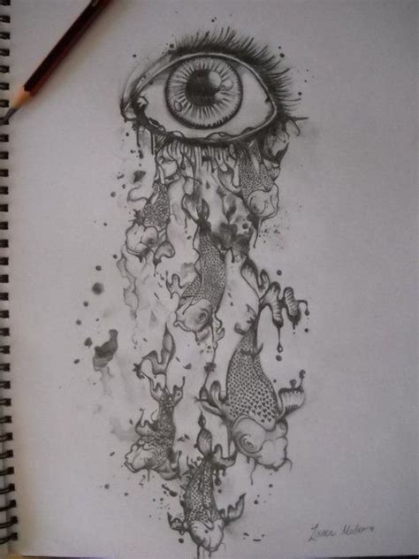 eye tattoo designs tumblr tattoo drawing eye fish tears unique crazy p