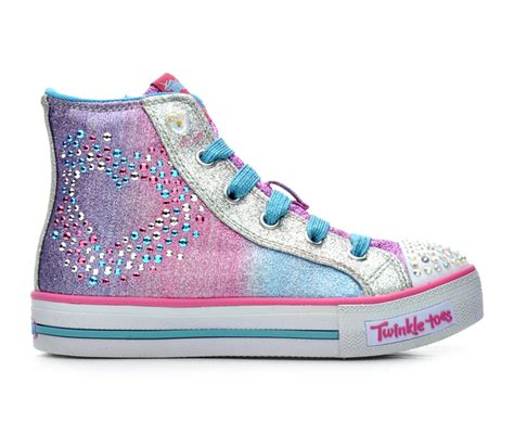 skechers light up shoes on off switch girls skechers glitzy hearts 10 5 4 light up shoes