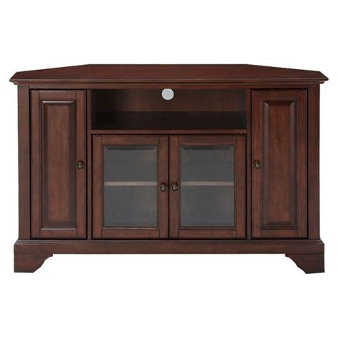 lafayette 48 quot corner tv stand vintage mahogany dcg stores