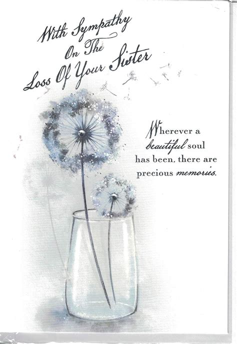 sympathy loss   sister card dandelion