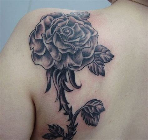 rose tattoo on shoulder meaning black rose tattoos designs ideas and meaning tattoos