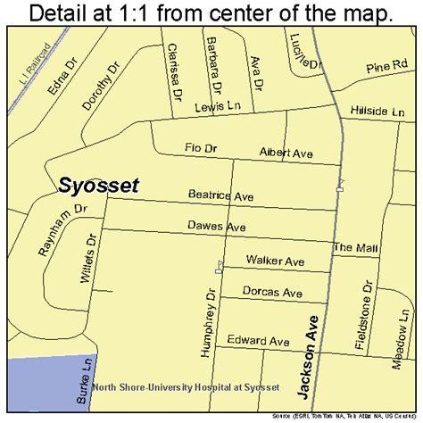 syosset new york street map 3672554