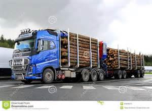 Volvo Log Blue Volvo Fh16 700 Timber Truck With Log Trailer