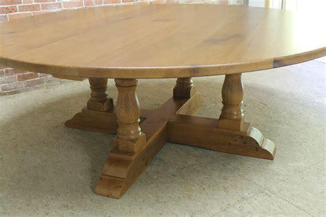 round monterey 84 inch round dining with monterey pedestal lake