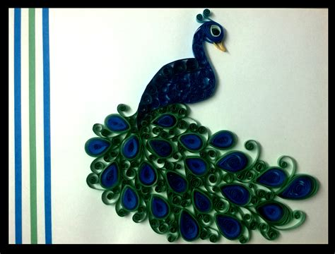 How To Make Paper Quilling Peacock - paper quilling peacock with frame prices in india