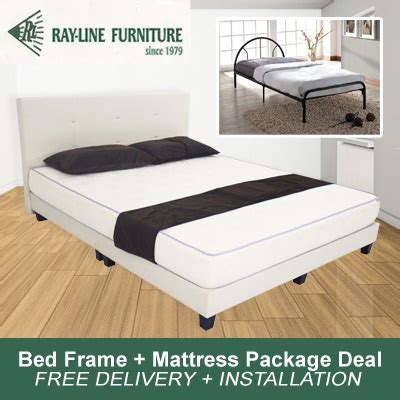 bed frame deals qoo10 bed frame mattress package deal free delivery