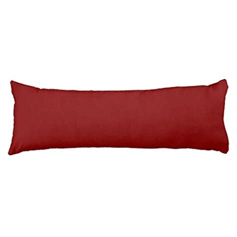 maroon solid color pillow 20 x 54 inch cotton
