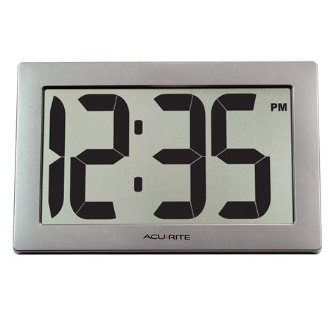 wall clock digital 9 5 inch large digital clock acurite